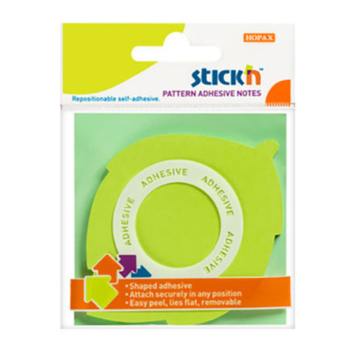 samolepici blocek stick'n 360° list neonove zeleny, 70x70mm