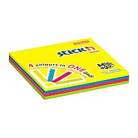 samolepici blocek stick'n magic neonove barvy, 76x76mm